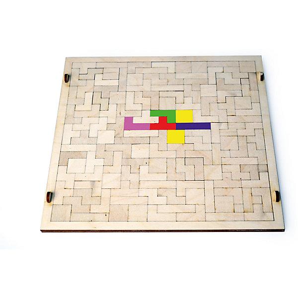 Деревянная головоломка Lemmo ТетрисКлассические головоломки<br>Характеристики:<br><br>• тип игрушки: конструктор;<br>• комплектация: игровое поле, 133 фигуры;<br>• возраст: от 5 лет;<br>• размер: 35x30х1 см;<br>• вес: 330 гр;<br>• бренд: Lemmo;<br>• материал: дерево.<br><br>Набор Lemmo игра «Тетрис» станет отличным и недорогим подарком для вашего ребенка.  Он развивает логику и внимательность. Цель: заполнить квадратную рамку всеми фигурами. Можно играть вдвоем – заполнять поле фигурами с разных сторон. При желании игру можно раскрасить акриловыми или гуашевыми красками как показано на фотографии.<br><br>Экологически чистые, развивающие конструкторы от российского производителя «Lemmo» помогут вашему ребенку развить мелкую моторику рук, воображение, пространственное мышление, логику и предметное моделирование. Все детали выполнены из качественной древесины и имеют сильный насыщенный запах дерева. <br><br>Набор Lemmo игру «Тетрис» можно купить в нашем интернет-магазине.<br><br>Ширина мм: 350<br>Глубина мм: 300<br>Высота мм: 10<br>Вес г: 330<br>Возраст от месяцев: 60<br>Возраст до месяцев: 2147483647<br>Пол: Унисекс<br>Возраст: Детский<br>SKU: 7338247