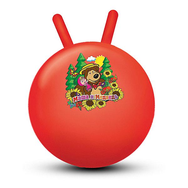 Мяч-попрыгун с рожками Играем вместе Маша и Медведь, 45 смМячи детские<br>Характеристики товара:<br><br>• возраст: от 3 лет;<br>• герой: Маша и Медведь; <br>• из чего сделана игрушка (состав): ПВХ; <br>• размер игрушки: 45 см; <br>• страна обладатель бренда: Россия.<br><br>Мяч-попрыгун c рожками «Маша и медведь» от производителя «Играем вместе» с изображением героев одноименного мультфильма позволит вашим деткам весело провести время! <br><br>Мяч изготовлен из прочного материала, на нем удобно сидеть и прыгать, держась за ручки. Эта игрушка специально создана для веселых активных игр. Мяч-попрыгун помогает развивать вестибулярный аппарат, укрепляет мышцы, а регулярные занятия формируют правильную осанку у ребенка.<br> <br>Мяч с рожками 45 см «Маша и медведь» можно купить в нашем интернет-магазине.<br>Ширина мм: 450; Глубина мм: 450; Высота мм: 450; Вес г: 580; Возраст от месяцев: 36; Возраст до месяцев: 168; Пол: Унисекс; Возраст: Детский; SKU: 7338296;