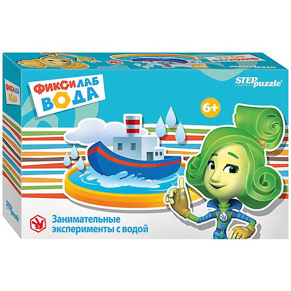 Набор для опытов Step Puzzle Фиксилаб. ВодаХимия и физика<br>Оригинальный набор для проведения экспериментов «Фиксилаб. Вода» — это не только интересная игрушка, но и эффективное средство обучения, которое развивает у ребенка познавательную активность и помогает исследовать окружающий мир.<br>Комплект содержит все необходимое для проведения опытов с водой, а также подробную инструкцию к каждому из предлагаемых экспериментов.<br><br>Кому понравится? <br>Набор подойдет мальчикам и девочкам, которые любят экспериментировать, узнавать что-то новое и видят в обычных вещах необычное применение. <br><br>Что полезного в игре? <br>В ходе игры в мини-лабораторию ребенок: <br><br>узнает, как из подручных материалов сделать настоящую водную лабораторию;<br>самостоятельно проведет необычные опыты с водой;<br>разовьет кругозор.<br><br>Что в наборе?<br><br>шприц (2 шт.);<br>пластиковый стаканчик (1 шт.);<br>губка (1 шт.);<br>пластиковая трубка (1 шт.);<br>фиксатор для бутылки (1 шт.);<br>картонные детали для экспериментов;<br>инструкция.<br><br>Кому будет интересно? <br>Игра будет интересна для детей от 6 лет. <br><br>Как играть? <br>В игре вы найдете несколько экспериментов: <br><br>бегущая вода;<br>подводная лодка;<br>водяной уровень;<br>магический стакан.<br><br>Чего нет в наборе? <br>Для проведения экспериментов дополнительно понадобится пластиковая бутылка.<br><br>Ширина мм: 205<br>Глубина мм: 130<br>Высота мм: 55<br>Вес г: 160<br>Возраст от месяцев: 72<br>Возраст до месяцев: 2147483647<br>Пол: Унисекс<br>Возраст: Детский<br>SKU: 7338335