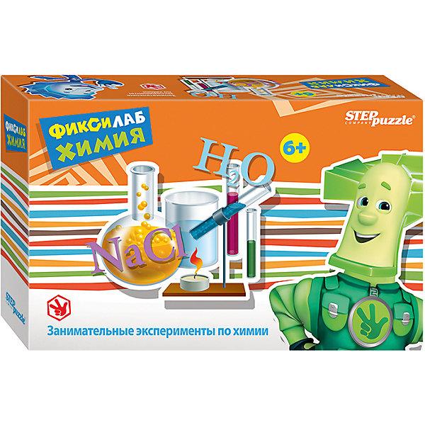 Развивающая игра Step Puzzle Фиксилаб. ХимияХимия и физика<br>Характеристики товара:<br><br>• возраст: от 6 лет;<br>• комплект: атрибуты для проведения опыта, инструкция;<br>• материал: пластик, химические вещества, книга с описанием опытов;<br>• размер упаковки: 20,5x13x6 см.;<br>• упаковка: картонная коробка;<br>• бренд, страна производства: STEP puzzle, Россия.<br>                                                                                                                                                                                                                                                                                                                       <br>Развивающая игра «Фиксилаб. Химия» - представляет собой комплект различных приспособлений для проведения интересных экспериментов, подробное руководство которых изложено в предоставленной инструкции.<br><br>Комплект для проведения увлекательных экспериментов в домашних условиях. В процессе проведения которых юный химик узнает много нового о химических реакциях и взаимодействии различных веществ. Проводить опыты следует только под присмотром взрослых.<br><br>Каждый научный конструктор сопровождается историей, о приключениях друзей из города Самоделкино. Элек и Трон, Кнопка, Том в доступной для детей форме расскажут и объяснят, как с физической точки зрения действует собранный механизм.<br><br>Развивающая игра «Фиксилаб. Химия»  STEP puzzle можно купить в нашем интернет-магазине.<br>Ширина мм: 205; Глубина мм: 130; Высота мм: 55; Вес г: 180; Возраст от месяцев: 72; Возраст до месяцев: 2147483647; Пол: Унисекс; Возраст: Детский; SKU: 7338340;