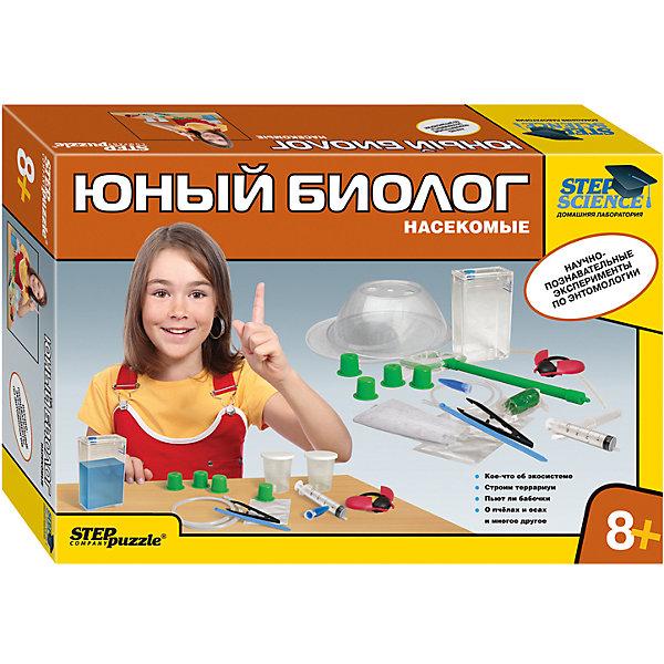 Набор для опытов Step Puzzle Домашняя лаборатория НасекомыеАнатомия<br>Характеристики товара:<br><br>• возраст: от 8 лет;<br>• материал: пластик, металл;<br>• размер упаковки: 40х27х8,5 см.;<br>• упаковка: картонная коробка;<br>• вес в упаковке: 1,1 кг.;<br>• бренд, страна производства: STEP puzzle, Россия.<br><br>Домашняя лаборатория «Юный биолог. Насекомые» этот научно-позновательский набор станет отличным подарком для любознательных детей. <br><br>Проводя опыты, юный естествоиспытатель узнает: Как устроена экосистема; Кое-что о пчелах и бабочках; Как построить террариум и многое другое.<br><br>В комплект входит брошюра с интересной информацией и описанием различных опытов, а так же набор аксессуаров для их выполнения.<br><br>Рекомендуемый возраст: от 8 лет, под наблюдением взрослых.<br><br>Домашняя лаборатория «Юный биолог. Насекомые», STEP puzzle можно купить в нашем интернет-магазине.<br>Ширина мм: 400; Глубина мм: 270; Высота мм: 85; Вес г: 1117; Возраст от месяцев: 96; Возраст до месяцев: 2147483647; Пол: Унисекс; Возраст: Детский; SKU: 7338344;