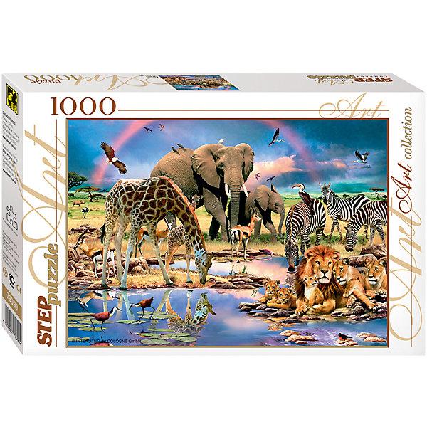 Пазл Step Puzzle Саванна, 1000 элементовПазлы классические<br>Характеристики товара:<br><br>• возраст: от 7 лет;<br>• количество деталей: 1000;<br>• размер собранной картины: 68х48 см.;<br>• материал: картон;<br>• размер упаковки: 40x27x5,5 см.;<br>• упаковка: картонная каробка;<br>• бренд, страна производства: STEP puzzle, Россия.<br>                                                                                                                                                                                                                                                                                                                       <br>Пазл «Саванна», состоящий из 1000 элементов, придется по душе всей вашей семье. Собрав этот пазл, вы получите чудесную картину с реалистичным изображением различных диких обитателей Африканской саванны.<br><br>Пазл выполнен из высококачественных материалов, что обеспечивает идеальное прилегание элементов друг к другу. Готовую картину можно склеить, вставить в рамку и повесить на стену.<br><br>Собирание пазлов это не только интересно, но и полезно: ведь в процессе создания картинки развивается мелкая моторика, тренируются наблюдательность и логическое мышление.<br><br>Пазл «Саванна», 1000 деталей можно купить в нашем интернет-магазине.<br>Ширина мм: 400; Глубина мм: 270; Высота мм: 55; Вес г: 780; Возраст от месяцев: 84; Возраст до месяцев: 2147483647; Пол: Унисекс; Возраст: Детский; SKU: 7338365;