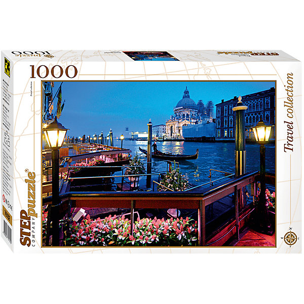 Пазл Step Puzzle Италия. Венеция, 1000 элементовПазлы классические<br>Характеристики товара:<br><br>• возраст: от 7 лет;<br>• количество деталей: 1000;<br>• размер собранной картины: 68х48 см.;<br>• материал: картон;<br>• размер упаковки: 40x27x5,5 см.;<br>• упаковка: картонная каробка;<br>• бренд, страна производства: STEP puzzle, Россия.<br>                                                                                                                                                                                                                                                                                                                       <br>Пазл «Италия. Венеция», состоящий из 1000 элементов, придется по душе всей вашей семье. Собрав этот пазл, вы получите чудесную картину с реалистичным изображением удивительного ночного города - Венеция.<br><br>Пазл выполнен из высококачественных материалов, что обеспечивает идеальное прилегание элементов друг к другу. Готовую картину можно склеить, вставить в рамку и повесить на стену.<br><br>Собирание пазлов это не только интересно, но и полезно: ведь в процессе создания картинки развивается мелкая моторика, тренируются наблюдательность и логическое мышление.<br><br>Пазл «Италия. Венеция», 1000 деталей можно купить в нашем интернет-магазине.<br>Ширина мм: 400; Глубина мм: 270; Высота мм: 55; Вес г: 780; Возраст от месяцев: 84; Возраст до месяцев: 2147483647; Пол: Унисекс; Возраст: Детский; SKU: 7338372;