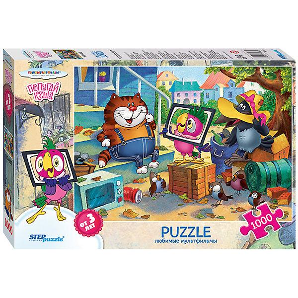 Пазл Step Puzzle Попугай Кеша, 1000 элементовСоветские мультфильмы<br>Характеристики товара:<br><br>• возраст: от 7 лет;<br>• количество деталей: 1000;<br>• размер собранной картины: 68х48 см.;<br>• материал: картон;<br>• размер упаковки: 40x27x5,5 см.;<br>• упаковка: картонная каробка;<br>• бренд, страна производства: STEP puzzle, Россия.<br>                                                                                                                                                                                                                                                                                                                       <br>Пазл «Попугай Кеша», состоящий из 1000 элементов, придется по душе всей вашей семье. Собрав этот пазл, вы получите чудесную картину с изображение любимых героев из одноименного мультфильма.<br><br>Пазл выполнен из высококачественных материалов, что обеспечивает идеальное прилегание элементов друг к другу. Готовую картину можно склеить, вставить в рамку и повесить на стену.<br><br>Собирание пазлов это не только интересно, но и полезно: ведь в процессе создания картинки развивается мелкая моторика, тренируются наблюдательность и логическое мышление.<br><br>Пазл «Попугай Кеша», 1000 деталей можно купить в нашем интернет-магазине.<br>Ширина мм: 270; Глубина мм: 400; Высота мм: 60; Вес г: 568; Возраст от месяцев: 84; Возраст до месяцев: 2147483647; Пол: Унисекс; Возраст: Детский; SKU: 7338375;