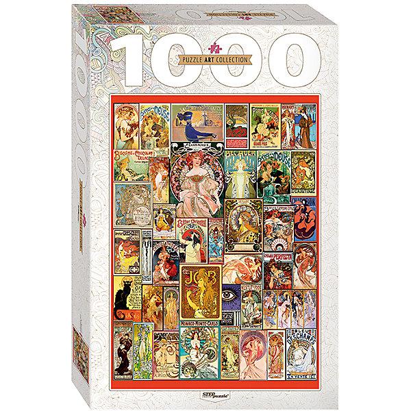 Пазл Step Puzzle Art Nouveau, 1000 элементовПазлы классические<br>Характеристики товара:<br><br>• возраст: от 7 лет;<br>• количество деталей: 1000;<br>• размер собранной картины: 68х48 см.;<br>• материал: картон;<br>• размер упаковки: 40x27x5,5 см.;<br>• упаковка: картонная каробка;<br>• бренд, страна производства: STEP puzzle, Россия.<br>                                                                                                                                                                                                                                                                                                                       <br>Пазл «Art Nouveau», состоящий из 1000 элементов, придется по душе всей вашей семье. Собрав этот пазл, вы получите необычную композицию из различных художественных мотивов.<br><br>Пазл выполнен из высококачественных материалов, что обеспечивает идеальное прилегание элементов друг к другу. Готовую картину можно склеить, вставить в рамку и повесить на стену.<br><br>Собирание пазлов это не только интересно, но и полезно: ведь в процессе создания картинки развивается мелкая моторика, тренируются наблюдательность и логическое мышление.<br><br>Пазл «Art Nouveau», 1000 деталей можно купить в нашем интернет-магазине.<br>Ширина мм: 330; Глубина мм: 215; Высота мм: 55; Вес г: 620; Возраст от месяцев: 84; Возраст до месяцев: 2147483647; Пол: Унисекс; Возраст: Детский; SKU: 7338378;