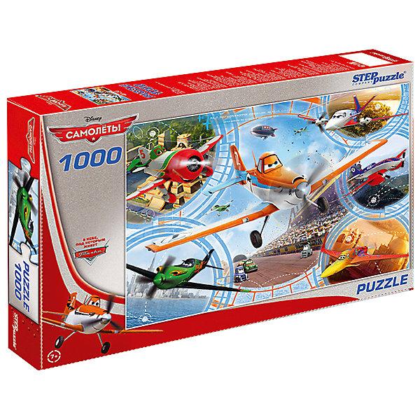 Пазл Step Puzzle Disney. Самолеты, 1000 элементовСамолеты<br>Характеристики товара:<br><br>• возраст: от 7 лет;<br>• количество деталей: 1000;<br>• размер собранной картины: 68х48 см.;<br>• материал: картон;<br>• размер упаковки: 40x27x5,5 см.;<br>• упаковка: картонная каробка;<br>• бренд, страна производства: STEP puzzle, Россия.<br>                                                                                                                                                                                                                                                                                                                       <br>Пазл «Самолеты. Disney», состоящий из 1000 элементов, придется по душе всей вашей семье. Собрав этот пазл, вы получите яркую детализированную картинку с шестью персонажами во главе с незабываемым главным героем — Дасти из одноименного мульфильма.<br><br>Пазл выполнен из высококачественных материалов, что обеспечивает идеальное прилегание элементов друг к другу. Такой эффектный постер сможет стать прекрасным украшением детской комнаты. <br><br>Собирание пазлов это не только интересно, но и полезно: ведь в процессе создания картинки развивается мелкая моторика, тренируются наблюдательность и логическое мышление.<br><br>Пазл «Самолеты. Disney», 1000 деталей можно купить в нашем интернет-магазине.<br>Ширина мм: 400; Глубина мм: 270; Высота мм: 55; Вес г: 780; Возраст от месяцев: 84; Возраст до месяцев: 2147483647; Пол: Мужской; Возраст: Детский; SKU: 7338386;