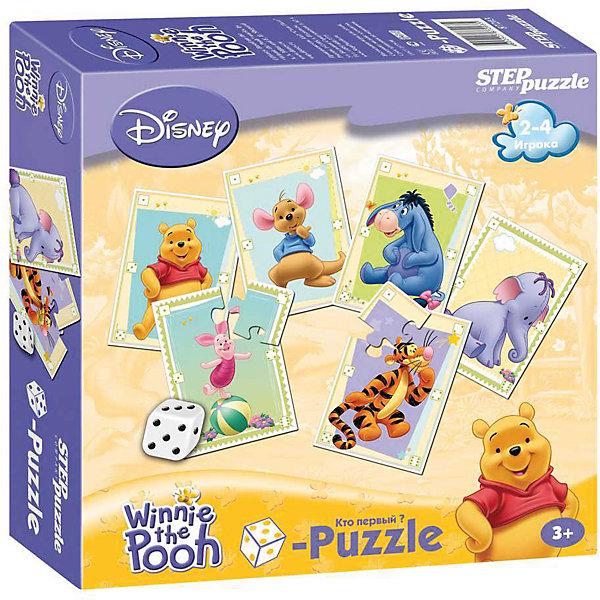 Пазл-игра Step Puzzle Кубик-Puzzle Disney Медвежонок ВинниПазлы для малышей<br>Весёлая азартная игра, в которой выигрывает тот, кто первым соберёт свой пазл, но не просто соберёт, а при помощи кубика (игральной кости).<br><br>Ширина мм: 200<br>Глубина мм: 200<br>Высота мм: 50<br>Вес г: 340<br>Возраст от месяцев: 36<br>Возраст до месяцев: 2147483647<br>Пол: Унисекс<br>Возраст: Детский<br>SKU: 7338396