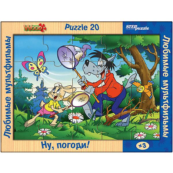 Пазл Step Puzzle Любимые мультфильмы Ну, погоди!, 20 элементовСоветские мультфильмы<br>Пазлы активно развивают мышление, внимание и память. Деревянные пазлы наиболее подходят для первого знакомства. Они удобные в манипулировании, эргономичны для детской руки, имеют большой срок службы.<br><br>Ширина мм: 360<br>Глубина мм: 270<br>Высота мм: 20<br>Вес г: 400<br>Возраст от месяцев: 36<br>Возраст до месяцев: 2147483647<br>Пол: Унисекс<br>Возраст: Детский<br>SKU: 7338420