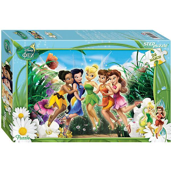 Пазл Maxi Step Puzzle Disney Феи, 24 элементаФеи Дисней<br>Характеристики товара:<br><br>• возраст: от 3 лет;<br>• количество элементов: 24;<br>• материал: картон;<br>• размер собранного пазла: 50х34,5 см;<br>• упаковка: картонная коробка;<br>• размер упаковки: 38х25х5 см;<br>• бренд, страна производства: STEP puzzle, Россия.<br><br>Макси-пазл «Феи Disney» состоит из 24 крупных и ярких элементов, которые образуют чудесную картинку с изображением любимых героев Диснея - феей Динь-Динь и ее подружек.  <br><br>Пазл упакован в картонную коробку с изображением основной картинки, на которую удобно ориентироваться при сборке. Большие детали позволяют самостоятельно собирать картинку даже маленьким детям.<br><br>Пазл сделан из прочных и качественных, нетоксичных и гипоаллергенных материалов. Собирая пазл, ребенок будет развивать концентрацию внимания, память, визуальное восприятие, логическое мышление и мелкую моторику рук.<br><br>Макси-пазл «Феи Disney», 24 элемента можно купить в нашем интернет-магазине.<br>Ширина мм: 375; Глубина мм: 245; Высота мм: 40; Вес г: 658; Возраст от месяцев: 36; Возраст до месяцев: 2147483647; Пол: Женский; Возраст: Детский; SKU: 7338422;