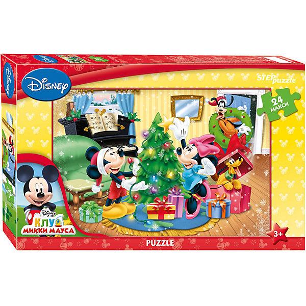 Пазл Maxi Step Puzzle Disney Микки Маус. Праздник, 24 элементаМикки Маус и друзья<br>Характеристики товара:<br><br>• возраст: от 3 лет;<br>• количество элементов: 24;<br>• материал: картон;<br>• размер собранного пазла: 50х34,5 см;<br>• упаковка: картонная коробка;<br>• размер упаковки: 38х25х5 см;<br>• бренд, страна производства: STEP puzzle, Россия.<br><br>Макси-пазл «Микки Маус. Праздник. Disney» состоит из 24 крупных и ярких элементов, которые образуют чудесную картинку с изображением любимых героев Диснея - Микки Мауса и его друзей.  <br><br>Пазл упакован в картонную коробку с изображением основной картинки, на которую удобно ориентироваться при сборке. Большие детали позволяют самостоятельно собирать картинку даже маленьким детям.<br><br>Пазл сделан из прочных и качественных, нетоксичных и гипоаллергенных материалов. Собирая пазл, ребенок будет развивать концентрацию внимания, память, визуальное восприятие, логическое мышление и мелкую моторику рук.<br><br>Макси-пазл «Микки Маус. Праздник. Disney», 24 элемента можно купить в нашем интернет-магазине.<br>Ширина мм: 375; Глубина мм: 245; Высота мм: 40; Вес г: 658; Возраст от месяцев: 36; Возраст до месяцев: 2147483647; Пол: Унисекс; Возраст: Детский; SKU: 7338424;
