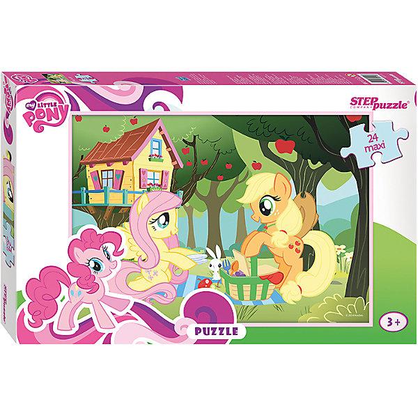 Пазл Maxi Step Puzzle My Little Pony, 24 элементаПазлы для малышей<br>Характеристики товара:<br><br>• возраст: от 3 лет;<br>• количество элементов: 24;<br>• материал: картон;<br>• размер собранного пазла: 50х34,5 см;<br>• упаковка: картонная коробка;<br>• размер упаковки: 38х25х5 см;<br>• бренд, страна производства: STEP puzzle, Россия.<br><br>Макси-пазл «Мой маленький пони» состоит из 24 крупных и ярких элементов, которые образуют чудесную картинку с изображением любимых героев одноименного мультфильма.  <br><br>Пазл упакован в картонную коробку с изображением основной картинки, на которую удобно ориентироваться при сборке. Большие детали позволяют самостоятельно собирать картинку даже маленьким детям.<br><br>Пазл сделан из прочных и качественных, нетоксичных и гипоаллергенных материалов. Собирая пазл, ребенок будет развивать концентрацию внимания, память, визуальное восприятие, логическое мышление и мелкую моторику рук.<br><br>Макси-пазл «Мой маленький пони», 24 элемента можно купить в нашем интернет-магазине.<br>Ширина мм: 375; Глубина мм: 245; Высота мм: 40; Вес г: 658; Возраст от месяцев: 36; Возраст до месяцев: 2147483647; Пол: Унисекс; Возраст: Детский; SKU: 7338425;