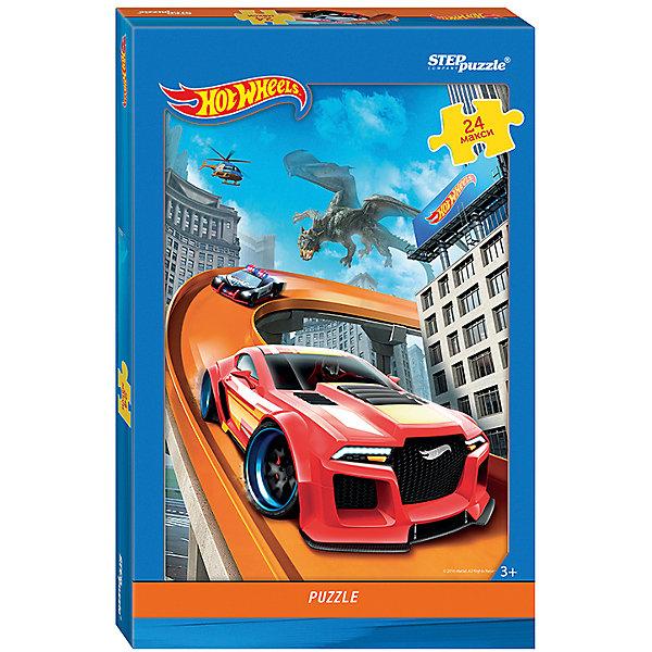 Пазл Maxi Step Puzzle Hot Wheels, 24 элементаПазлы для малышей<br>Характеристики товара:<br><br>• возраст: от 3 лет;<br>• количество элементов: 24;<br>• материал: картон;<br>• размер собранного пазла: 50х34,5 см;<br>• упаковка: картонная коробка;<br>• размер упаковки: 38х25х5 см;<br>• бренд, страна производства: STEP puzzle, Россия.<br><br>Макси-пазл «Hot Wheels» состоит из 24 крупных и ярких элементов, которые образуют чудесную картинку с изображением гоночного трека с машинками из серии Hot Wheels.<br><br>Пазл упакован в картонную коробку с изображением основной картинки, на которую удобно ориентироваться при сборке. Большие детали позволяют самостоятельно собирать картинку даже маленьким детям.<br><br>Пазл сделан из прочных и качественных, нетоксичных и гипоаллергенных материалов. Собирая пазл, ребенок будет развивать концентрацию внимания, память, визуальное восприятие, логическое мышление и мелкую моторику рук.<br><br>Макси-пазл «Hot Wheels», 24 элемента можно купить в нашем интернет-магазине.<br>Ширина мм: 375; Глубина мм: 245; Высота мм: 40; Вес г: 658; Возраст от месяцев: 36; Возраст до месяцев: 2147483647; Пол: Унисекс; Возраст: Детский; SKU: 7338429;