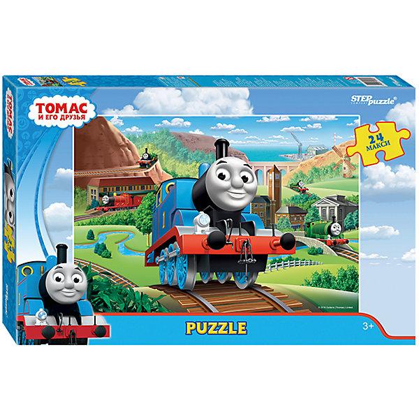 Пазл Maxi Step Puzzle Томас и его друзья, 24 элементаПазлы для малышей<br>Характеристики товара:<br><br>• возраст: от 3 лет;<br>• количество элементов: 24;<br>• материал: картон;<br>• размер собранного пазла: 50х34,5 см;<br>• упаковка: картонная коробка;<br>• размер упаковки: 38х25х5 см;<br>• бренд, страна производства: STEP puzzle, Россия.<br><br>Макси-пазл «Томас и его друзья» состоит из 24 крупных и ярких элементов, которые образуют чудесную картинку с изображением любимых героев - веселых паравозиков из одноименного мультфильма. <br><br>Пазл упакован в картонную коробку с изображением основной картинки, на которую удобно ориентироваться при сборке. Большие детали позволяют самостоятельно собирать картинку даже маленьким детям.<br><br>Пазл сделан из прочных и качественных, нетоксичных и гипоаллергенных материалов. Собирая пазл, ребенок будет развивать концентрацию внимания, память, визуальное восприятие, логическое мышление и мелкую моторику рук.<br><br>Макси-пазл «Томас и его друзья», 24 элемента можно купить в нашем интернет-магазине.<br>Ширина мм: 375; Глубина мм: 245; Высота мм: 40; Вес г: 658; Возраст от месяцев: 36; Возраст до месяцев: 2147483647; Пол: Унисекс; Возраст: Детский; SKU: 7338432;