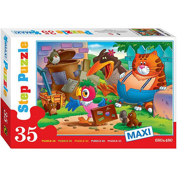 Пазл Maxi Step Puzzle Попугай Кеша, 35 элементовСоветские мультфильмы<br>Характеристики товара:<br><br>• возраст: от 3 лет;<br>• количество элементов: 35;<br>• материал: картон;<br>• размер собранного пазла: 68х48 см;<br>• упаковка: картонная коробка;<br>• размер упаковки: 40х27х5,5 см;<br>• бренд, страна производства: STEP puzzle, Россия.<br><br>Макси-пазл «Попугай Кеша» состоит из 35 крупных и ярких элементов, которые образуют чудесную картинку с изображением любымых героев из одноименного мультфильма.<br><br>Пазл упакован в картонную коробку с изображением основной картинки, на которую удобно ориентироваться при сборке. Большие детали позволяют самостоятельно собирать картинку даже маленьким детям.<br><br>Пазл сделан из прочных и качественных, нетоксичных и гипоаллергенных материалов. Собирая пазл, ребенок будет развивать концентрацию внимания, память, визуальное восприятие, логическое мышление и мелкую моторику рук.<br><br>Макси-пазл «Попугай Кеша», 35 элементов можно купить в нашем интернет-магазине.<br>Ширина мм: 400; Глубина мм: 270; Высота мм: 55; Вес г: 740; Возраст от месяцев: 36; Возраст до месяцев: 2147483647; Пол: Унисекс; Возраст: Детский; SKU: 7338445;