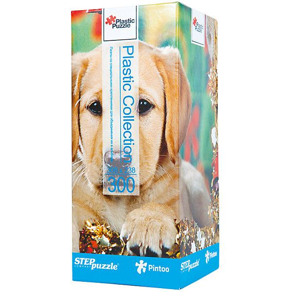 Пазл Step Puzzle Щенок, 300 элементовПазлы классические<br>Характеристики товара:<br><br>• возраст: от 7 лет;<br>• количество деталей: 300;<br>• размер собранной картины: 31х24 см.;<br>• материал: пластмасса;<br>• размер упаковки: 24x10x10 см.;<br>• упаковка: картонная каробка;<br>• бренд, страна производства: STEP puzzle, Россия.<br>                                                                                                                                                                                                                                                                                                                       <br>Пазл пластиковый «Щенок», состоящий из 300 элементов, придется по душе всей вашей семье. Собрав этот пазл, вы получите яркую, прочную картинку с изображением милого ценка-лабрадора.<br><br>В компллект входят специальные соединительные петли, что позволяет хранить собранные пазлы как альбом. Готовый пазл удобно использовать как коврик для мышки, подставку под холодные блюда и и просто как украшение интерьера.<br><br>Собирание пазлов это не только интересно, но и полезно: ведь в процессе создания картинки развивается мелкая моторика, тренируются наблюдательность и логическое мышление.<br><br>Пазл пластиковый «Щенок», 300 деталей можно купить в нашем интернет-магазине.<br>Ширина мм: 240; Глубина мм: 100; Высота мм: 100; Вес г: 400; Возраст от месяцев: 72; Возраст до месяцев: 2147483647; Пол: Унисекс; Возраст: Детский; SKU: 7338455;