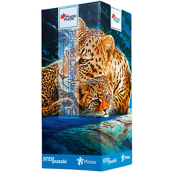 Пазл Step Puzzle Леопарды, 300 элементовПазлы классические<br>Характеристики товара:<br><br>• возраст: от 7 лет;<br>• количество деталей: 300;<br>• размер собранной картины: 31х24 см.;<br>• материал: пластмасса;<br>• размер упаковки: 24x10x10 см.;<br>• упаковка: картонная каробка;<br>• бренд, страна производства: STEP puzzle, Россия.<br>                                                                                                                                                                                                                                                                                                                       <br>Пазл пластиковый «Леопарды», состоящий из 300 элементов, придется по душе всей вашей семье. Собрав этот пазл, вы получите яркую, прочную картинку с изображением двух леопардов - мамы и детеныша.<br><br>В компллект входят специальные соединительные петли, что позволяет хранить собранные пазлы как альбом. Готовый пазл удобно использовать как коврик для мышки, подставку под холодные блюда и и просто как украшение интерьера.<br><br>Собирание пазлов это не только интересно, но и полезно: ведь в процессе создания картинки развивается мелкая моторика, тренируются наблюдательность и логическое мышление.<br><br>Пазл пластиковый «Леопарды», 300 деталей можно купить в нашем интернет-магазине.<br>Ширина мм: 240; Глубина мм: 100; Высота мм: 100; Вес г: 400; Возраст от месяцев: 72; Возраст до месяцев: 2147483647; Пол: Унисекс; Возраст: Детский; SKU: 7338457;