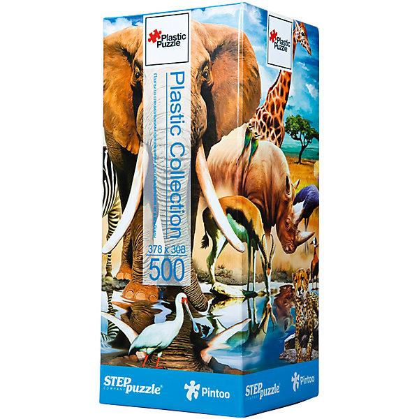 Пазл Step Puzzle Мир животных, 500 элементовПазлы классические<br>Характеристики товара:<br><br>• возраст: от 7 лет;<br>• количество деталей: 500;<br>• размер собранной картины: 38х31 см.;<br>• материал: пластмасса;<br>• размер упаковки: 24x10x10 см.;<br>• упаковка: картонная каробка;<br>• бренд, страна производства: STEP puzzle, Россия.<br>                                                                                                                                                                                                                                                                                                                       <br>Пазл пластиковый «Мир животных», состоящий из 500 элементов, придется по душе всей вашей семье. Собрав этот пазл, вы получите яркую, прочную картинку с изображением различных диких животных.<br><br>В компллект входят специальные соединительные петли, что позволяет хранить собранные пазлы как альбом. Готовый пазл удобно использовать как коврик для мышки, подставку под холодные блюда и и просто как украшение интерьера.<br><br>Собирание пазлов это не только интересно, но и полезно: ведь в процессе создания картинки развивается мелкая моторика, тренируются наблюдательность и логическое мышление.<br><br>Пазл пластиковый «Мир животных», 500 деталей можно купить в нашем интернет-магазине.<br>Ширина мм: 240; Глубина мм: 100; Высота мм: 100; Вес г: 480; Возраст от месяцев: 84; Возраст до месяцев: 2147483647; Пол: Унисекс; Возраст: Детский; SKU: 7338459;
