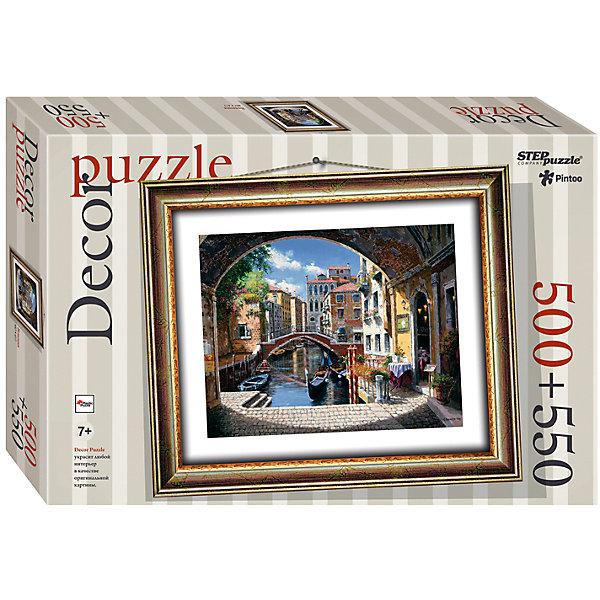 Пазл Step Puzzle Венеция, 500 элементов+рамкаПазлы классические<br>Характеристики товара:<br><br>• возраст: от 7 лет;<br>• количество деталей: 1050;<br>• размер собранной картины: 48,5х41 см.;<br>• материал: пластмасса;<br>• размер упаковки: 40x27x5,5 см.;<br>• упаковка: картонная каробка;<br>• бренд, страна производства: STEP puzzle, Россия.<br>                                                                                                                                                                                                                                                                                                                       <br>Пазл пластиковый «Венеция» представлен как картина в рамке. На готовой картине вы получите красивое изображение узкой улочки с водным каналом итальянского города, на котором одиноко плавают гондолы. <br><br>Пазл состоит из 1050 элементов, 500 из которых - это картина, а 550 - это детали рамки. Полученной картиной можно украсить интерьер комнаты или гостиной. <br><br>Собирание пазлов это не только интересно, но и полезно: ведь в процессе создания картинки развивается мелкая моторика, тренируются наблюдательность и логическое мышление.<br><br>Пазл пластиковый «Венеция» с рамкой, 1050 деталей можно купить в нашем интернет-магазине.<br><br>Ширина мм: 400<br>Глубина мм: 270<br>Высота мм: 55<br>Вес г: 867<br>Возраст от месяцев: 84<br>Возраст до месяцев: 2147483647<br>Пол: Унисекс<br>Возраст: Детский<br>SKU: 7338461