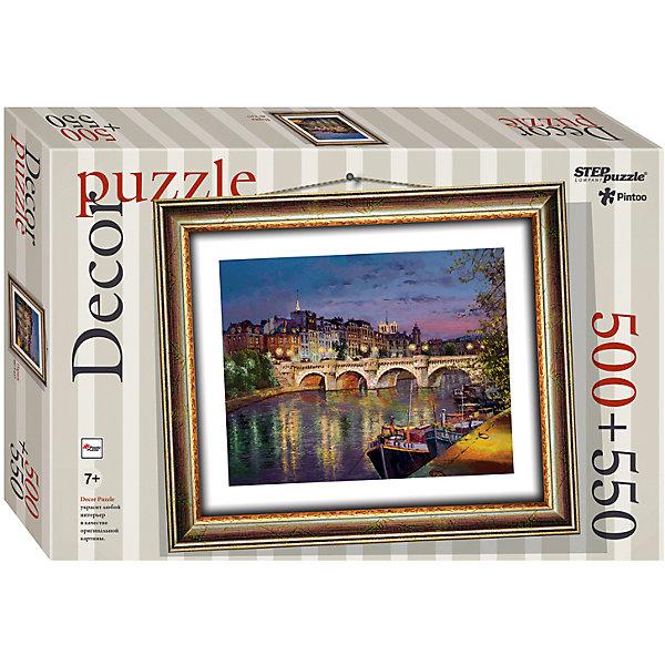 Пазл Step Puzzle Париж, 500 элементов+рамкаПазлы классические<br>Характеристики товара:<br><br>• возраст: от 7 лет;<br>• количество деталей: 1050;<br>• размер собранной картины: 48,5х41 см.;<br>• материал: пластмасса;<br>• размер упаковки: 40x27x5,5 см.;<br>• упаковка: картонная каробка;<br>• бренд, страна производства: STEP puzzle, Россия.<br>                                                                                                                                                                                                                                                                                                                       <br>Пазл пластиковый «Париж» представлен как картина в рамке. На готовой картине вы получите красивое изображение ночного пейзажа города Парижа.<br><br>Пазл состоит из 1050 элементов, 500 из которых - это картина, а 550 - это детали рамки. Полученной картиной можно украсить интерьер комнаты или гостиной. <br><br>Собирание пазлов это не только интересно, но и полезно: ведь в процессе создания картинки развивается мелкая моторика, тренируются наблюдательность и логическое мышление.<br><br>Пазл пластиковый «Париж» с рамкой, 1050 деталей можно купить в нашем интернет-магазине.<br>Ширина мм: 400; Глубина мм: 270; Высота мм: 55; Вес г: 867; Возраст от месяцев: 84; Возраст до месяцев: 2147483647; Пол: Унисекс; Возраст: Детский; SKU: 7338462;