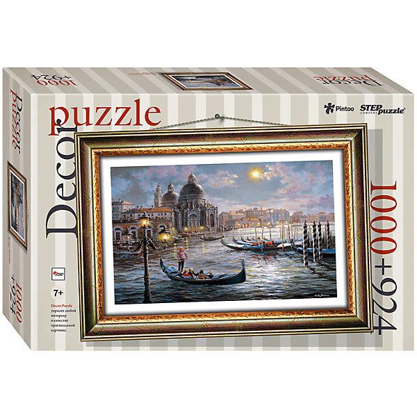 Пазл Step Puzzle Вечер в Венеции, 1000 элементов+рамкаПазлы классические<br>Характеристики товара:<br><br>• возраст: от 7 лет;<br>• количество деталей: 1924;<br>• размер собранной картины: 72,5х51,5 см.;<br>• материал: пластмасса;<br>• размер упаковки: 40x27x5,5 см.;<br>• упаковка: картонная каробка;<br>• бренд, страна производства: STEP puzzle, Россия.<br>                                                                                                                                                                                                                                                                                                                       <br>Пазл пластиковый «Вечер в Венеции» представлен как картина в рамке. На готовой картине вы получите красивое изображение потрясающего итальянского города - Венеции.<br><br>Пазл состоит из 1924 элементов, 1000 из которых - это картина, а 924 - это детали рамки. Полученной картиной можно украсить интерьер детской комнаты или гостиной. <br><br>Собирание пазлов это не только интересно, но и полезно: ведь в процессе создания картинки развивается мелкая моторика, тренируются наблюдательность и логическое мышление.<br><br>Пазл пластиковый «Вечер в Венеции» с рамкой, 1924 детали можно купить в нашем интернет-магазине.<br><br>Ширина мм: 400<br>Глубина мм: 270<br>Высота мм: 55<br>Вес г: 1384<br>Возраст от месяцев: 84<br>Возраст до месяцев: 2147483647<br>Пол: Унисекс<br>Возраст: Детский<br>SKU: 7338463