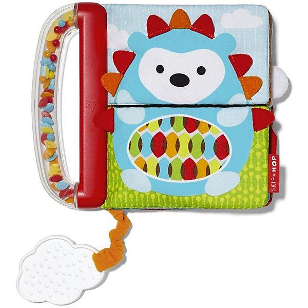 Книжка-игрушка Skip Hop КнижкаРазвивающие игрушки<br>Характеристики:<br><br>• мягкие странички;<br>• ручка-погремушка;<br>• ткани разной фактуры;<br>• шуршащие элементы;<br>• закладка-прорезыватель;<br>• материал: пластик, текстиль;<br>• размер упаковки: 21х4х28 см;<br>• вес: 150 г.<br><br>Развивающая игрушка с мягкими страничками выполнена в виде книжечки. Ручка книжки представляет собой пластиковый контейнер с пластиковыми шариками внутри. При встряхивании шарики перекатываются и создают ритмичный перезвон. На каждой страничке малыша ожидают картинки и аппликации, которые выполнены из материалов различной фактуры. На этапе прорезывания зубиков пригодится прорезыватель, который мягко массирует десны малыша.<br><br>Развивающую игрушку Skip Hop «Книжка» можно купить в нашем интернет-магазине.<br>Ширина мм: 210; Глубина мм: 40; Высота мм: 280; Вес г: 150; Возраст от месяцев: 12; Возраст до месяцев: 36; Пол: Унисекс; Возраст: Детский; SKU: 7338636;