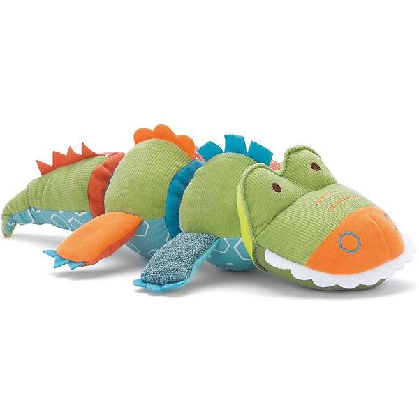 Развивающая мягкая игрушка Skip Hop КрокодилИгрушки для новорожденных<br>Характеристики:<br><br>• возраст ребенка: от 3 месяцев;<br>• звуковое сопровождение: при встряхивании раздается звенящий звук;<br>• туловище крокодила состоит из 3-х поворотных секций;<br>• характерный треск при скручивании;<br>• ткань различной фактуры;<br>• материал: текстиль;<br>• размер упаковки: 24х8х29 см;<br>• вес: 150 г.<br><br>Развивающая игрушка для малышей «Крокодил» - мягкая игрушка с шуршащими элементами. Крокодил состоит из трех поворотных частей: хвост, голова и животик. Некоторые элементы издают шуршащий звук, некоторые словно щелкают в ручках малыша. Развивается цветовосприятие, тактильное восприятие, слух.<br><br>Развивающую игрушку Skip Hop «Крокодил» можно купить в нашем интернет-магазине.<br><br>Ширина мм: 240<br>Глубина мм: 80<br>Высота мм: 290<br>Вес г: 150<br>Возраст от месяцев: 12<br>Возраст до месяцев: 36<br>Пол: Унисекс<br>Возраст: Детский<br>SKU: 7338637
