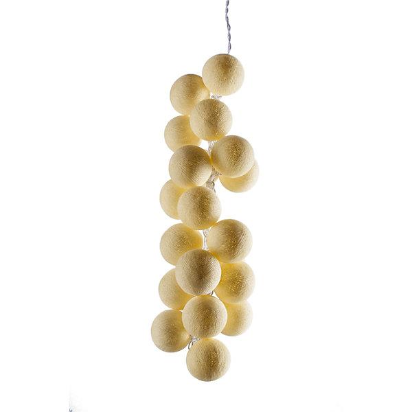 Гирлянда LED 1.5м Медовые от батареекНовогодние электрогирлянды<br>Характеристики:<br><br>• возраст: от 3 лет;<br>• тип игрушки: гирлянда;<br>• цвет: желтый;<br>• комплектация: батарейки входят в комплект;<br>• размер: 200х6х6 см;<br>• вес: 170 гр; <br>• общая длина гирлянды: 2 м;<br>• материал: пластик;<br>• бренд: Гирляндус.<br><br>Гирлянда LED 1.5 м «Медовые»  представляет из себя изделие ручной работы необычного оттенка желтого цвета, которое станет изысканным украшением к новогодним праздникам. Нежная гирлянда имеет длину от шарика до шарика 1,5 метра, а ее общая длина – 2 м. <br><br>Каждый шарик сделан вручную из ниток и клея, светится приятным мягким светом. Шарики  хрупкие, но даже если вы их помнёте, их всегда можно выправить. В гирлянде используются светодиодные лампочки. Качественный материал не оказывает вреда и проверен на безопасность.<br><br>В комплекте прилагается инструкция. Также в комплекте находятся батарейки. Гирлянда  от фирмы «Гирляндус» доступна для детей от трех лет и старше. Благодаря такой гирлянде можно создать праздничную атмосферу, красиво украсив дом.<br><br>Гирлянду LED 1.5 м «Медовые» от батареек  можно купить в нашем интернет-магазине.<br>Ширина мм: 2000; Глубина мм: 60; Высота мм: 60; Вес г: 170; Возраст от месяцев: 36; Возраст до месяцев: 2147483647; Пол: Унисекс; Возраст: Детский; SKU: 7338676;