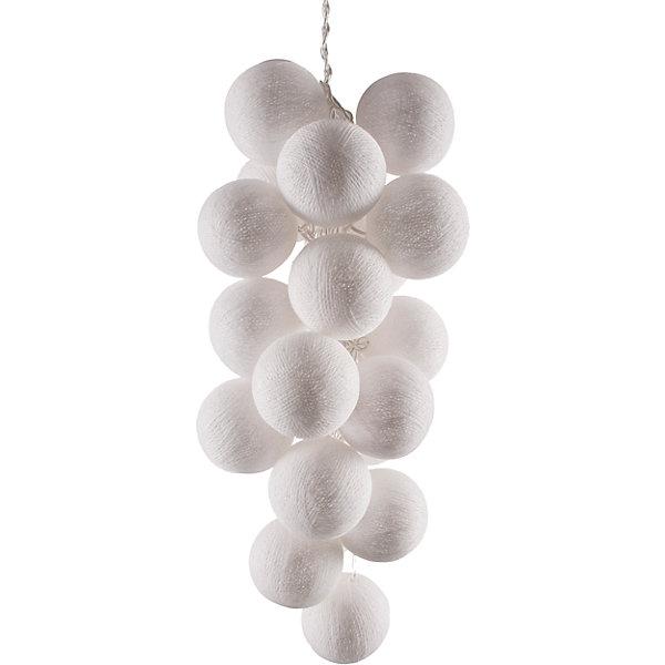 Гирлянда LED 3м Белые 220ВНовогодние электрогирлянды<br>Характеристики:<br><br>• возраст: от 3 лет;<br>• тип игрушки: гирлянда;<br>• цвет: белый;<br>• вид лампы: светодиодный;<br>• тип подключения: шнур питания 220 В;<br>• размер: 450х6х6 см;<br>• вес: 300 гр; <br>• общая длина гирлянды: 4,5 м;<br>• материал: силикон; <br>• бренд: Гирляндус.<br><br>Гирлянда LED 3 м 220 В «Белые» представляет из себя изделие ручной работы белого  цвета, которое станет изысканным украшением к новогодним праздникам. Нежная гирлянда имеет длину от шарика до шарика 3 метра, а ее общая длина – 4,5 м. <br><br>Каждый шарик сделан вручную из ниток и клея, светится приятным мягким светом. Шарики  хрупкие, но даже если вы их помнёте, их всегда можно выправить. В гирлянде используются светодиодные лампочки. Качественный материал не оказывает вреда и проверен на безопасность. На ощупь гирлянда также приятна. <br><br>В комплекте прилагается инструкция. Гирлянда  от фирмы «Гирляндус» доступна для детей от трех лет и старше. Благодаря такой гирлянде можно создать праздничную атмосферу, красиво украсив дом.<br><br>Гирлянду LED 3 м 220 В «Белые» можно купить в нашем интернет-магазине.<br><br>Ширина мм: 4500<br>Глубина мм: 60<br>Высота мм: 60<br>Вес г: 300<br>Возраст от месяцев: 36<br>Возраст до месяцев: 2147483647<br>Пол: Унисекс<br>Возраст: Детский<br>SKU: 7338733