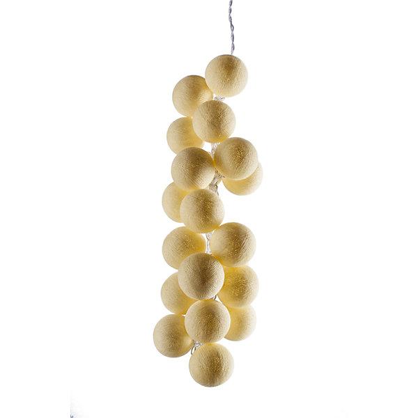 Гирлянда LED 7.5м Медовые 220ВНовогодние электрогирлянды<br>Характеристики:<br><br>• возраст: от 3 лет;<br>• тип игрушки: гирлянда;<br>• цвет: желтый;<br>• вид лампы: светодиодный;<br>• тип подключения: шнур питания 220 В;<br>• размер: 900х6х6 см;<br>• вес: 750 гр; <br>• общая длина гирлянды: 9 м;<br>• материал: силикон; <br>• бренд: Гирляндус.<br><br>Гирлянда LED 7.5 м 220 В «Медовые» представляет из себя изделие ручной работы желтого цвета, которое станет изысканным украшением к новогодним праздникам. Нежная гирлянда имеет длину от шарика до шарика 7.5 метра, а ее общая длина – 9 м. <br><br>Каждый шарик сделан вручную из ниток и клея, светится приятным мягким светом. Шарики  хрупкие, но даже если вы их помнёте, их всегда можно выправить. В гирлянде используются светодиодные лампочки. Качественный материал не оказывает вреда и проверен на безопасность. На ощупь гирлянда также приятна. <br><br>В комплекте прилагается инструкция. Гирлянда  от фирмы «Гирляндус» доступна для детей от трех лет и старше. Благодаря такой гирлянде можно создать праздничную атмосферу, красиво украсив дом.<br><br>Гирлянду LED 7.5 м 220 В «Медовые»  можно купить в нашем интернет-магазине.<br>Ширина мм: 9000; Глубина мм: 60; Высота мм: 60; Вес г: 750; Возраст от месяцев: 36; Возраст до месяцев: 2147483647; Пол: Унисекс; Возраст: Детский; SKU: 7338778;
