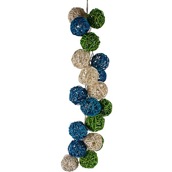 Гирлянда ротанг LED 1.5м Зелёная волна 220ВНовогодние электрогирлянды<br>Характеристики:<br><br>• возраст: от 3 лет;<br>• тип игрушки: гирлянда;<br>• цвет: зеленый;<br>• вид лампы: светодиодный;<br>• тип подключения: шнур питания 220 В;<br>• размер: 300х6х6 см;<br>• вес: 170 гр; <br>• общая длина гирлянды: 2 м;<br>• материал: силикон; <br>• бренд: Гирляндус.<br><br>Гирлянда ротанг LED 1.5м 220 В «Зеленая волна»  представляет из себя изделие ручной работы зеленого  цвета, которое станет изысканным украшением к новогодним праздникам. Нежная гирлянда имеет длину от шарика до шарика 1.5 метра, а ее общая длина –2 м. <br><br>Каждый шарик сделан вручную из ротанговых прутиков, светится приятным мягким светом. Также они окрашены натуральными красителями. В гирлянде используются светодиодные лампочки. Качественный материал не оказывает вреда и проверен на безопасность. <br><br>В комплекте прилагается инструкция. Гирлянда  от фирмы «Гирляндус» доступна для детей от трех лет и старше. Благодаря такой гирлянде можно создать праздничную атмосферу, красиво украсив дом.<br><br>Гирлянду ротанг LED 1.5м 220 В «Зеленая волна» можно купить в нашем интернет-магазине.<br><br>Ширина мм: 3000<br>Глубина мм: 60<br>Высота мм: 60<br>Вес г: 170<br>Возраст от месяцев: 36<br>Возраст до месяцев: 2147483647<br>Пол: Унисекс<br>Возраст: Детский<br>SKU: 7338803