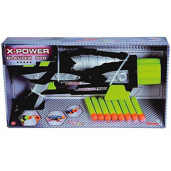 Бластер Simba X-Power 35 см, черно-зеленыйИгрушечные пистолеты и бластеры<br>Бластер Simba с эффектным дизайном очень порадует вашего ребенка. В наборе ружье и 8 патронов. Дальность полета патронов - 10 м. С таким бластером Ваш ребенок станет настоящим звездным воином!<br><br>Дополнительная информация:<br><br>- Материал: высококачественная пластмасса<br>- Размер игрушки: 35 см.<br>- Размер упаковки: 38 х 6,8 х 20 м.<br>- Вес: 0,600 кг.<br>- Цвет в ассортименте. <br><br>Игрушка развивает меткость, хороший глазомер и ловкость<br>купить бластер можно в нашем магазине<br><br>Ширина мм: 385<br>Глубина мм: 70<br>Высота мм: 205<br>Вес г: 600<br>Возраст от месяцев: 72<br>Возраст до месяцев: 2147483647<br>Пол: Мужской<br>Возраст: Детский<br>SKU: 7338995