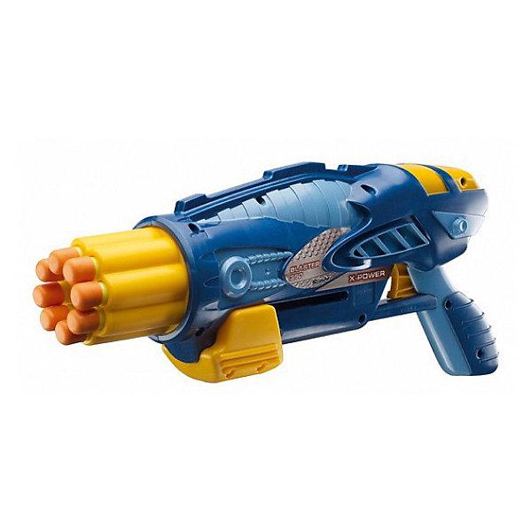 Бластер Simba X-Power 35 см, синийИгрушечные пистолеты и бластеры<br>Характеристики:<br><br>• игрушечное оружие для мальчиков;<br>• тип снарядов: патроны;<br>• дальность выстрела: 10 м;<br>• в комплекте: бластер 35 см, 8 патронов;<br>• материал: пластик;<br>• размер упаковки: 38,5х7х20,5 см;<br>• вес: 600 г.<br><br>Устроить разборки враждующих сторон, отправиться на поимку «опасного» преступника, выйти на службу в качестве патрульного – наличие бластера просто необходимо! Бластер Х-Пауэр стреляет патронами, используется для игр на открытых площадках, на свежем воздухе. Поролоновые патроны с резиновыми наконечниками, в наборе уже имеется 8 штук. Дополнительные патроны для перезарядки оружия приобретаются отдельно.<br><br>Simba Бластер Х-Пауэр, синий можно купить в нашем интернет-магазине.<br>Ширина мм: 385; Глубина мм: 70; Высота мм: 205; Вес г: 600; Возраст от месяцев: 72; Возраст до месяцев: 2147483647; Пол: Мужской; Возраст: Детский; SKU: 7338996;