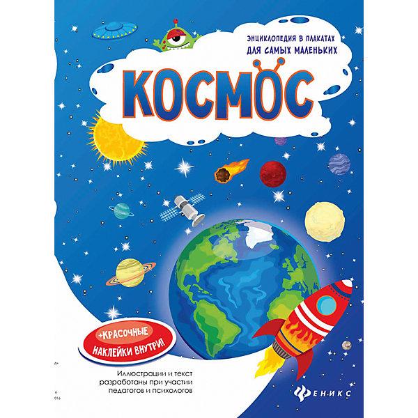 Космос: книжка-плакатДетские энциклопедии<br>Характеристики:<br><br>• тип игрушки: книга;<br>• возраст: от 0 лет;<br>• количество страниц: 1;<br>• материал: картон, бумага;<br>• автор: Мойсик Н.;<br>• вес:  60 гр;<br>• размер: 29х20,5х0,1 см;<br>• бренд: Fenix.<br><br>Книга «Космос: книжка-плакат»  подойдет для самых маленьких детей. Внутри книжки ребенку нужно провести ракету по самому короткому пути и раскрасить ее в красивые цвета. После этого плакат можно повесить на стену или дверь детской комнаты. В серии есть несколько вариантов книжечек.<br><br>Книгу «Космос: книжка-плакат» можно купить в нашем интернет-магазине.<br><br>Ширина мм: 290<br>Глубина мм: 205<br>Высота мм: 1<br>Вес г: 60<br>Возраст от месяцев: 0<br>Возраст до месяцев: 72<br>Пол: Унисекс<br>Возраст: Детский<br>SKU: 7339026