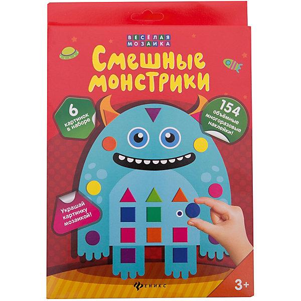 Смешные монстрики: набор для творчестваБумага<br>Характеристики:<br><br>• тип игрушки: набор для творчества;<br>• возраст: от 3 лет;<br>• материал: картон, бумага;<br>• вес:  120 гр;<br>• размер: 25,2х17,3х1,2 см;<br>• бренд: Fenix.<br><br>«Смешные монстрики: набор для творчества» разработан для детей от трех лет и старше. Внутри этого удивительного набора малыш найдёт 6 картинок для творчества.  Их можно украсить с помощью ярких фигурок EVA-мозаики - и у ребенка получатся объёмные картинки с машинками. Можно фантазировать и играть. В наборе: 6 картонных карточек, 2 листа с наклейками, в картонной коробке с европодвесом.<br><br>Наборы для детей развивают мелкую моторику рук, воображение, усидчивость. Также они являются не только интересным, но и полезным времяпрепровождением.<br><br>Набор для творчества «Смешные монстрики: набор для творчества» можно купить в нашем интернет-магазине.<br><br>Ширина мм: 252<br>Глубина мм: 173<br>Высота мм: 12<br>Вес г: 123<br>Возраст от месяцев: 0<br>Возраст до месяцев: 72<br>Пол: Унисекс<br>Возраст: Детский<br>SKU: 7339170