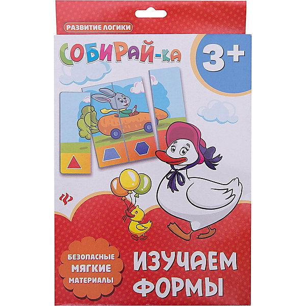 Собирай-ка. Изучаем формыИзучаем цвета и формы<br>Характеристики:<br><br>• тип игрушки: игра;<br>• возраст: от 3 лет; <br>•количество деталей: 4;<br>• материал: картон;<br>• вес:  78 гр;<br>• размер: 27,4х17х1,4 см;<br>• бренд: Fenix.<br><br>Карточки «Собирай-ка. Изучаем формы» разработаны для детей от трех лет и старше. Развивать логическое мышление теперь так просто и под силу самым маленьким.  В игровой форме малыш соберет сюжетную картинку их 4-х частей, а потом сможет рассмотреть получившуюся последовательность в нижней части. <br><br>Мягкий материал и крупные элементы делают игру безопасной для любого возраста. Использовать следует только под непосредственным наблюдением взрослых. В серии есть другие варианты веселой игры.<br><br>Карточки «Собирай-ка. Изучаем формы» можно купить в нашем интернет-магазине.<br>Ширина мм: 274; Глубина мм: 170; Высота мм: 14; Вес г: 80; Возраст от месяцев: 0; Возраст до месяцев: 72; Пол: Унисекс; Возраст: Детский; SKU: 7339187;