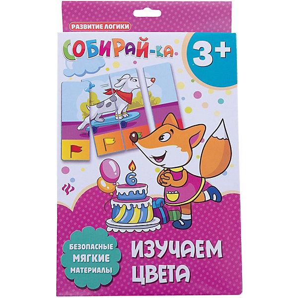 Собирай-ка. Изучаем цветаИзучаем цвета и формы<br>Характеристики:<br><br>• тип игрушки: игра;<br>• возраст: от 3 лет; <br>•количество деталей: 4;<br>• материал: картон;<br>• вес:  78 гр;<br>• размер: 27,4х17х1,4 см;<br>• бренд: Fenix.<br><br>Карточки «Собирай-ка. Изучаем цвета» разработаны для детей от трех лет и старше. Развивать логическое мышление теперь так просто и под силу самым маленьким.  В игровой форме малыш соберет сюжетную картинку их 4-х частей, а потом сможет рассмотреть получившуюся последовательность в нижней части. <br><br>Мягкий материал и крупные элементы делают игру безопасной для любого возраста. Использовать следует только под непосредственным наблюдением взрослых. В серии есть другие варианты веселой игры.<br><br>Карточки «Собирай-ка. Изучаем цвета» можно купить в нашем интернет-магазине.<br>Ширина мм: 274; Глубина мм: 170; Высота мм: 14; Вес г: 80; Возраст от месяцев: 0; Возраст до месяцев: 72; Пол: Унисекс; Возраст: Детский; SKU: 7339188;