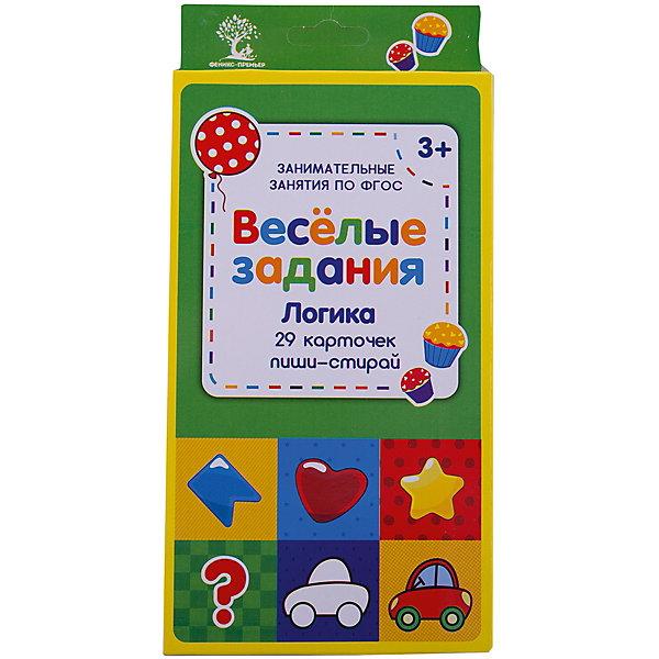 Веселые задания. ЛогикаТесты и задания<br>Характеристики:<br><br>• тип игрушки: книга;<br>• возраст: от 0 лет; <br>• материал: картон, бумага;<br>• количество страниц: 58;<br>• вес: 170 гр;<br>• размер: 21,7х10,6х1,5 см;<br>• упаковка: картон;<br>• бренд: Fenix.<br><br>Книга «Веселые задания. Логика» - это издание, которое по большей части станет отличным приобретением для детей любого возраста. Такое издание может стать отличным дополнением к занятиям в школе или детском саду и даже дома.<br><br>Перед вами набор двусторонних многоразовых карточек с занимательными заданиями. Он содержит 29 карточек, на которых благодаря специальной поверхности можно писать, рисовать и стирать столько, сколько ребёнку захочется. В наборе - занимательные задания на развитие логических навыков. Уникальный набор поможет организовать досуг вашего ребёнка или даже целой компании. Идеально подходит для поездок, каникул, выходных, когда нужно весело и с пользой провести с ребёнком время.<br>Книги серии будут полезны воспитателям дошкольных образовательных учреждений, гувернерам и родителям для занятий с детьми как в детском саду, так и дома.<br><br>Книгу «Веселые задания. Логика» можно купить в нашем интернет-магазине.<br>Ширина мм: 217; Глубина мм: 106; Высота мм: 15; Вес г: 172; Возраст от месяцев: 0; Возраст до месяцев: 72; Пол: Унисекс; Возраст: Детский; SKU: 7339202;