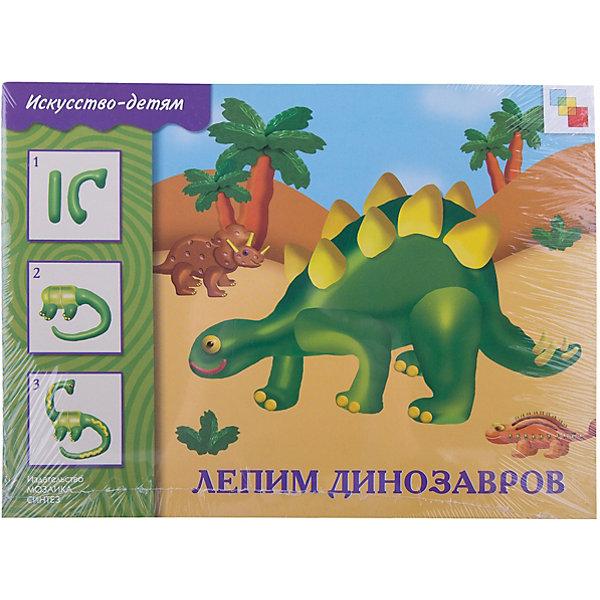 ИЗО Лепим динозавров. Рабочая тетрадьТесты и задания<br>Лепим динозавров<br>Альбом Лепим динозавров предназначен для занятий художественным творчеством  - лепкой из пластилина с детьми от 5 до 9 лет.<br>Открыв пособие, ребенок познакомится с главными героями  книги Тимуром и Ариной и отправится вместе с ними в увлекательное путешествие в прошлое - в эпоху динозавров.<br>В начале каждого занятия дается изображение фигуры динозавра из пластилина, далее изображение рассмотрено по деталям и элементам.<br>Также приводятся комментарии по ходу творческого процесса, рекомендации по техники лепки и последовательности действий.<br>В заключении приводятся методические рекомендации для взрослых.<br>Данный вид творческой деятельности позволит ребенку развить свои художественные способности и творческий потенциал, развить мелкую моторику рук, поможет придать уверенности в собственных силах.<br><br>Ширина мм: 2<br>Глубина мм: 290<br>Высота мм: 215<br>Вес г: 12<br>Возраст от месяцев: 60<br>Возраст до месяцев: 84<br>Пол: Унисекс<br>Возраст: Детский<br>SKU: 7340131