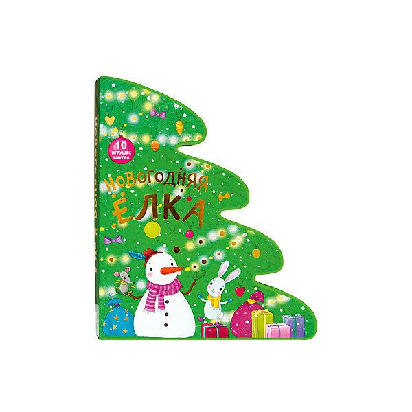 Новогодняя елка. (ЕВА)Новогодние книги<br>Чудесная книга в форме елки станет отличным новогодним подарком для вашего малыша.<br>Веселые стихи расскажут ему о том, как лесные зверята готовились к встрече Нового года и наряжали елку.<br>В книге ребенок найдет 10 фигурок забавных героев, которые вынимаются из мягких страничек. С ними можно поиграть, или, проделав небольшие отверстия, повесить с помощью нитей на елке в качестве новогодних игрушек.<br>Книжка «Новогодняя елка» изготовлена из пены EVA - она не рвется, не ломается и абсолютно безопасна для ребенка.<br>Ширина мм: 43; Глубина мм: 253; Высота мм: 304; Вес г: 33; Возраст от месяцев: 12; Возраст до месяцев: 36; Пол: Унисекс; Возраст: Детский; SKU: 7340232;