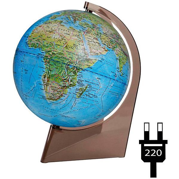 Глобус Земли «Двойная карта» с подсветкой на треугольникеГлобусы<br>Характеристики товара:<br><br>• возраст: от 6 лет;<br>• материал: пластик;<br>• диаметр: 21 см;<br>• размер упаковки: 21х22х29,5 см;<br>• вес упаковки: 580 гр.;<br>• страна производитель: Россия.<br><br>Глобус Земли «Двойная карта» с подсветкой на треугольнике — отличное пособие для изучения географии как для школьников, так и для студентов. Он позволит познакомиться с нашей планетой. Глобус оснащен подсветкой, работающей от сети. Особенностью его является двойная карта: при выключенной подсветке глобус физический, а при включенной — политический.<br><br>Глобус Земли Земли «Двойная карта» с подсветкой на треугольнике можно приобрести в нашем интернет-магазине.<br><br>Ширина мм: 210<br>Глубина мм: 220<br>Высота мм: 295<br>Вес г: 580<br>Возраст от месяцев: 72<br>Возраст до месяцев: 2147483647<br>Пол: Унисекс<br>Возраст: Детский<br>SKU: 7340374