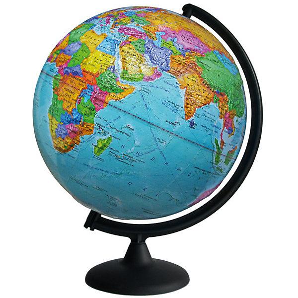 Глобус Земли политический рельефныйГлобусы<br>Характеристики товара:<br><br>• возраст: от 6 лет;<br>• материал: пластик;<br>• диаметр: 32 см;<br>• размер упаковки: 32х32,1х34,5 см;<br>• вес упаковки: 980 гр.;<br>• страна производитель: Россия.<br><br>Глобус Земли политический рельефный — отличное пособие для изучения географии как для школьников, так и для студентов. Он позволит познакомиться с нашей планетой. Глобус представляет собой политическую карту мира с нанесенными странами, столицами, границами, крупными населенными пунктами.<br><br>Глобус Земли политический рельефный можно приобрести в нашем интернет-магазине.<br>Ширина мм: 320; Глубина мм: 321; Высота мм: 345; Вес г: 980; Возраст от месяцев: 72; Возраст до месяцев: 2147483647; Пол: Унисекс; Возраст: Детский; SKU: 7340377;