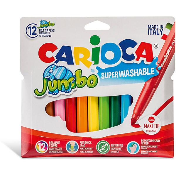 Набор фломастеров CARIOCA JUMBO, 12 цв., в картонном конверте с европодвесомФломастеры<br>Характеристики товара:<br><br>• Возраст: от 3 лет;<br>• Количество цветов: 12;<br>• Толщина линии письма: 6 мм;<br>• Тип упаковки: картонный конверт с европодвесом;<br>• Количество в упаковке: 12 шт.;<br>• Суперсмываемые;<br>• Вентилируемый колпачок;<br>• Ударопрочный пишущий узел;<br>• Не содержат глютен;<br>• Размер упаковки: 10х15х1 см;<br>• Вес: 191гр.;<br>• Страна происхождения: Италия.<br><br>Набор фломастеров CARIOCA JUMBO, 12 цв., в картонном конверте с европодвесом можно купить в нашем интернет-магазине.<br>Ширина мм: 100; Глубина мм: 10; Высота мм: 150; Вес г: 191; Возраст от месяцев: 36; Возраст до месяцев: 2147483647; Пол: Унисекс; Возраст: Детский; SKU: 7340762;