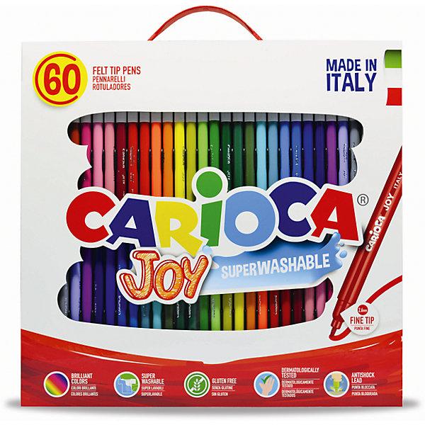 Набор фломастеров CARIOCA JOY, 60 цв., в чемоданчике картонномФломастеры<br>Характеристики товара:<br><br>• Возраст: от 3 лет;<br>• Количество цветов: 60;<br>• Толщина линии письма: 2,6 мм;<br>• Тип упаковки: картонный чемоданчик с ручкой;<br>• Количество в упаковке: 60 шт.;<br>• Шестигранный корпус<br>• Нетоксичные<br>• Суперсмываемые - cмываются с кожи без мыла<br>• Вентилируемый колпачок<br>• Ударопрочный пишущий узел<br>• Размер упаковки: 30х10х32 см;<br>• Вес: 621гр.;<br>• Страна происхождения: Италия.<br><br>Набор фломастеров CARIOCA JOY, 60 цв., в чемоданчике картонном можно купить в нашем интернет-магазине.<br>Ширина мм: 300; Глубина мм: 10; Высота мм: 320; Вес г: 620; Возраст от месяцев: 36; Возраст до месяцев: 2147483647; Пол: Унисекс; Возраст: Детский; SKU: 7340764;