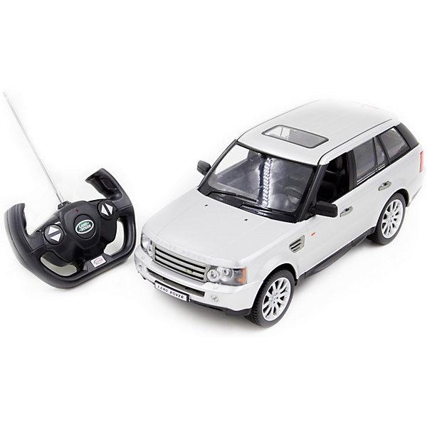 Радиоуправляемая машинка Rastar Range Rover Sport 1:14, серебристаяРадиоуправляемые машины<br>Характеристики:<br><br>• возраст: от 6 лет:<br>• материал: металл, пластик;<br>• масштаб: 1:14;<br>• максимальная скорость: до 12 км/ч;<br>• в комплекте: машина, пульт управления;<br>• тип батареек: 5 батареек АА; 1 батарейка Крона;<br>• наличие батареек: нет в комплекте;<br>• вес упаковки: 1,43 кг.;<br>• размер упаковки: 45,5х21,5х19,5 см;<br>• страна производитель: Китай.<br><br>Масштабная копия легендарного автомобиля ? радиоуправляемая машинка Rastar Range Rover Sport увлечет в мир больших скоростей и приключений на дорогах.<br><br>Игрушка управляется с помощью удобного пульта на частоте 27MHz и может от него отдаляться на расстояние до 35 м. Машина обладает отличной маневренностью, ездит в четырех направлениях.<br><br>Range Rover Sport имеет задний привод и разгоняется на ровной дороге до 12 км/ч. Преодолевать препятствия на улице будет одно удовольствие! Кроме того, когда машина едет вперед, включаются фары, а когда тормозит или сдает назад — стоп-сигналы.<br><br>Радиоуправляемую машинку Rastar Range Rover Sport, 1:14 можно купить в нашем интернет-магазине.<br>Ширина мм: 455; Глубина мм: 215; Высота мм: 195; Вес г: 1430; Возраст от месяцев: 36; Возраст до месяцев: 180; Пол: Мужской; Возраст: Детский; SKU: 7345274;