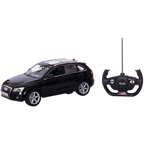 Радиоуправляемая машинка Rastar Audi Q5 1:14, чернаяРадиоуправляемые машины<br>Характеристики:<br><br>• возраст: от 6 лет:<br>• материал: металл, пластик;<br>• масштаб: 1:14;<br>• максимальная скорость: до 12 км/ч;<br>• двигатель: электрический;<br>• в комплекте: машина, пульт управления;<br>• тип батареек: 5 батареек АА; 1 батарейка Крона;<br>• наличие батареек: нет в комплекте;<br>• вес упаковки: 1,31 кг.;<br>• размер упаковки: 45,5х21,5х19,5 см;<br>• размер игрушки: 33,3х15,1х12 см;<br>• страна производитель: Китай.<br><br>Точная копия солидного автомобиля ? радиоуправляемая машинка Rastar Rastar Audi Q5 увлечет в мир больших скоростей и приключений на дорогах.<br><br>Игрушка управляется с помощью удобного пульта и может от него отдаляться на расстояние до 25 м. Машина обладает отличной маневренностью, ездит в четырех направлениях.<br><br>Rastar Audi Q5 имеет задний привод и разгоняется на ровной дороге до 12 км/ч. Преодолевать препятствия на улице будет одно удовольствие! Благодаря электрическому двигателю не будет особо шума и выхлопных газов, поэтому можно устраивать заезды и дома. Кроме того, когда машина едет вперед, включаются фары, а когда тормозит или сдает назад — стоп-сигналы.<br><br>Радиоуправляемую машинку Rastar Rastar Audi Q5, 1:14 можно купить в нашем интернет-магазине.<br>Ширина мм: 455; Глубина мм: 215; Высота мм: 195; Вес г: 1310; Возраст от месяцев: 36; Возраст до месяцев: 180; Пол: Мужской; Возраст: Детский; SKU: 7345275;