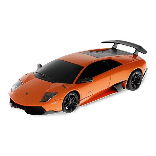 Радиоуправляемая машинка Rastar Lamboighini Murcielago LP670-4 1:24, оранжеваяРадиоуправляемые машины<br>Характеристики:<br><br>• возраст: от 6 лет:<br>• материал: пластик;<br>• масштаб: 1:24;<br>• максимальная скорость: до 7 км/ч;<br>• двигатель: электрический;<br>• в комплекте: машина, пульт управления;<br>• тип батареек: 5 батареек АА;<br>• наличие батареек: нет в комплекте;<br>• вес упаковки: 480 гр.;<br>• размер упаковки: 38,5,х12х10 см;<br>• страна производитель: Китай.<br><br>Фантастический автомобиль Lamboighini Murcielago теперь в правдоподобной копии от Rastar! Игрушка управляется с помощью удобного пульта на частоте 27MHz и может от него отдаляться на расстояние в десятки метров. Машина обладает отличной маневренностью, ездит в четырех направлениях.<br><br>Авто имеет задний привод и разгоняется на ровной дороге до 7 км/ч. Но и преодолевать препятствия на улице будет одно удовольствие! Кроме того, когда машина едет вперед, включаются фары, а когда тормозит или сдает назад — стоп-сигналы.<br><br>Радиоуправляемую машинку Rastar Lamboighini Murcielago LP670-4, 1:24 можно купить в нашем интернет-магазине.<br>Ширина мм: 385; Глубина мм: 120; Высота мм: 100; Вес г: 480; Возраст от месяцев: 36; Возраст до месяцев: 180; Пол: Мужской; Возраст: Детский; SKU: 7345278;