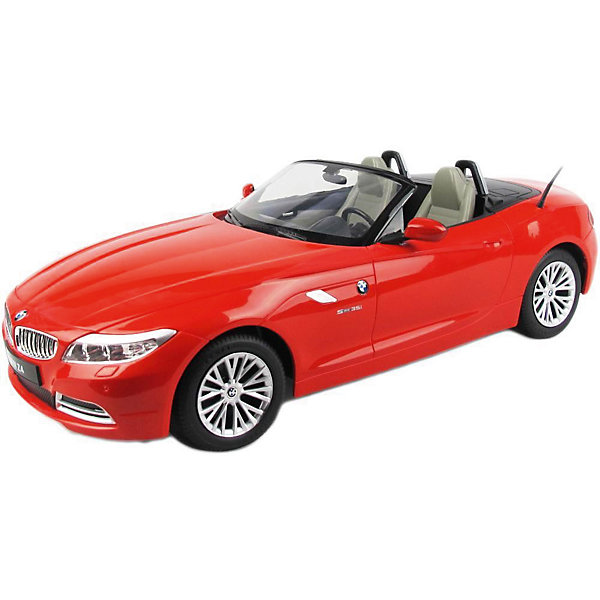 Радиоуправляемая машинка Rastar BMW Z4 1:12, краснаяРадиоуправляемые машины<br>Характеристики:<br><br>• возраст: от 8 лет:<br>• материал: пластик;<br>• масштаб: 1:12;<br>• максимальная скорость: до 12 км/ч;<br>• двигатель: электрический;<br>• в комплекте: машина, пульт управления;<br>• тип батареек: 5 батареек АА; 1 батарейка Крона;<br>• наличие батареек: нет в комплекте;<br>• вес упаковки: 1,04 кг.;<br>• размер упаковки: 50х22х20,5 см;<br>• страна производитель: Китай.<br><br>Роскошь и скорость в габаритной копии стильного BMW Z4 от Rastar. Управление игрушкой осуществляется с помощью удобного пульта на частоте 27MHz, который позволяет ездить ей во все стороны на расстояние до 45 м.<br><br>Мощные колеса и амортизация приспособлены к езде не только по ровной поверхности дома, но и на улице по асфальту и бугристой дороге, бросая вызов всем препятствиям. Авто имеет задний привод и разгоняется на ровной дороге до 12 км/ч. Кроме того, когда машина едет вперед, включаются фары, а когда тормозит или сдает назад — стоп-сигналы.<br><br>Мини автомобиль понравится и детям, и взрослым, особенно тем, кто коллекционирует подобные экземпляры.<br><br>Радиоуправляемую машинку Rastar BMW Z4, 1:12 можно купить в нашем интернет-магазине.<br><br>Ширина мм: 500<br>Глубина мм: 220<br>Высота мм: 205<br>Вес г: 1044<br>Возраст от месяцев: 36<br>Возраст до месяцев: 180<br>Пол: Мужской<br>Возраст: Детский<br>SKU: 7345280