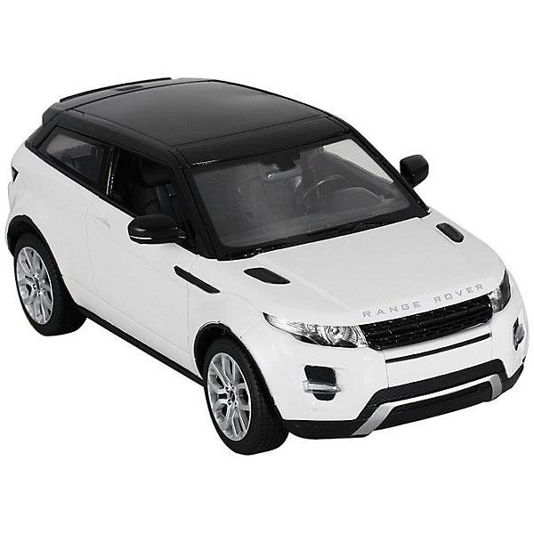 Радиоуправляемая машинка Rastar Range Rover Evoque 1:14, белаяРадиоуправляемые машины<br>Характеристики:<br><br>• возраст: от 8 лет:<br>• материал: пластик;<br>• масштаб: 1:14;<br>• максимальная скорость: до 9 км/ч;<br>• двигатель: электрический;<br>• в комплекте: машина, пульт управления;<br>• тип батареек: 5 батареек АА; 1 батарейка Крона;<br>• наличие батареек: нет в комплекте;<br>• вес упаковки: 1,05 кг.;<br>• размер упаковки: 43х22,5х17,5 см;<br>• страна производитель: Китай.<br><br>Масштабная копия легендарного автомобиля ? радиоуправляемая машинка Rastar Range Rover Evoque увлечет в мир больших скоростей и приключений на дорогах.<br><br>Игрушка управляется с помощью удобного пульта на частоте 27MHz и может от него отдаляться на расстояние до 45 м. Машина обладает отличной маневренностью, ездит в четырех направлениях. Время работы: 25 минут.<br><br>Range Rover Evoque имеет задний привод и разгоняется на ровной дороге до 9 км/ч. Преодолевать препятствия на улице будет одно удовольствие! Кроме того, когда машина едет вперед, включаются фары, а когда тормозит или сдает назад — стоп-сигналы.<br><br>Радиоуправляемую машинку Rastar Range Rover Evoque, 1:14 можно купить в нашем интернет-магазине.<br>Ширина мм: 430; Глубина мм: 225; Высота мм: 175; Вес г: 1055; Возраст от месяцев: 36; Возраст до месяцев: 180; Пол: Мужской; Возраст: Детский; SKU: 7345284;