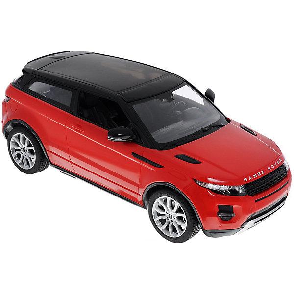Радиоуправляемая машинка Rastar Range Rover Evoque 1:14, краснаяРадиоуправляемые машины<br>Характеристики:<br><br>• возраст: от 8 лет:<br>• материал: пластик;<br>• масштаб: 1:14;<br>• максимальная скорость: до 9 км/ч;<br>• двигатель: электрический;<br>• в комплекте: машина, пульт управления;<br>• тип батареек: 5 батареек АА; 1 батарейка Крона;<br>• наличие батареек: нет в комплекте;<br>• вес упаковки: 1,05 кг.;<br>• размер упаковки: 43х22,5х17,5 см;<br>• страна производитель: Китай.<br><br>Масштабная копия легендарного автомобиля ? радиоуправляемая машинка Rastar Range Rover Evoque увлечет в мир больших скоростей и приключений на дорогах.<br><br>Игрушка управляется с помощью удобного пульта на частоте 27MHz и может от него отдаляться на расстояние до 45 м. Машина обладает отличной маневренностью, ездит в четырех направлениях. Время работы: 25 минут.<br><br>Range Rover Evoque имеет задний привод и разгоняется на ровной дороге до 9 км/ч. Преодолевать препятствия на улице будет одно удовольствие! Кроме того, когда машина едет вперед, включаются фары, а когда тормозит или сдает назад — стоп-сигналы.<br><br>Радиоуправляемую машинку Rastar Range Rover Evoque, 1:14 можно купить в нашем интернет-магазине.<br>Ширина мм: 430; Глубина мм: 225; Высота мм: 175; Вес г: 1055; Возраст от месяцев: 36; Возраст до месяцев: 180; Пол: Мужской; Возраст: Детский; SKU: 7345285;