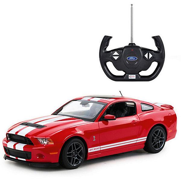 Радиоуправляемая машинка Rastar Ford Shelby GT500 1:14, краснаяРадиоуправляемые машины<br>Характеристики:<br><br>• возраст: от 6 лет:<br>• материал: пластик;<br>• масштаб: 1:14;<br>• максимальная скорость: до 12 км/ч;<br>• в комплекте: машина, пульт управления;<br>• тип батареек: 5 батареек АА; 1 батарейка 9V;<br>• наличие батареек: нет в комплекте;<br>• вес упаковки: 1,18 кг.;<br>• размер машины: 32х17х9 см;<br>• размер упаковки: 43,4х22,8х17,7 см;<br>• страна производитель: Китай.<br><br>Быстрый, мощный, спортивный автомобиль Ford Shelby GT500 в копии от Rastar. Управление игрушкой осуществляется с помощью удобного пульта на частоте 27MHz, который позволяет ездить ей во все стороны на расстояние в десятки метров.<br><br>Мощные колеса и амортизация приспособлены к езде не только по ровной поверхности дома, но и на улице по асфальту и бугристой дороге, бросая вызов всем препятствиям. Авто имеет задний привод и разгоняется на ровной дороге до 12 км/ч. Кроме того, когда машина едет вперед, включаются фары, а когда тормозит или сдает назад — стоп-сигналы. <br><br>Мини автомобиль понравится и детям, и взрослым, особенно тем, кто коллекционирует подобные экземпляры.<br><br>Радиоуправляемую машинку Ford Shelby GT500, 1:14 можно купить в нашем интернет-магазине.<br><br>Ширина мм: 434<br>Глубина мм: 228<br>Высота мм: 177<br>Вес г: 1180<br>Возраст от месяцев: 36<br>Возраст до месяцев: 180<br>Пол: Мужской<br>Возраст: Детский<br>SKU: 7345292